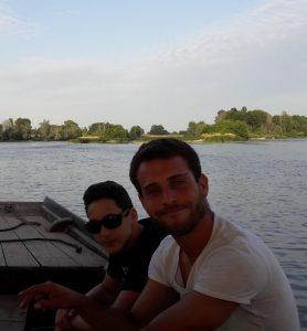 balade en bateau sur la Loire à Sigloy