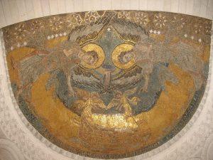 mosaique carolingienne de l'oratoire de Germigny-des-Prés