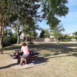 pause pique-nique dans le jardin de Wiesenbach à Donnery