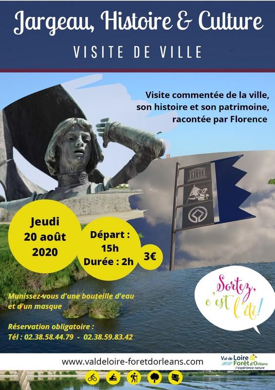 Visite de la ville de Jargeau le 20 août 2020 à 15h