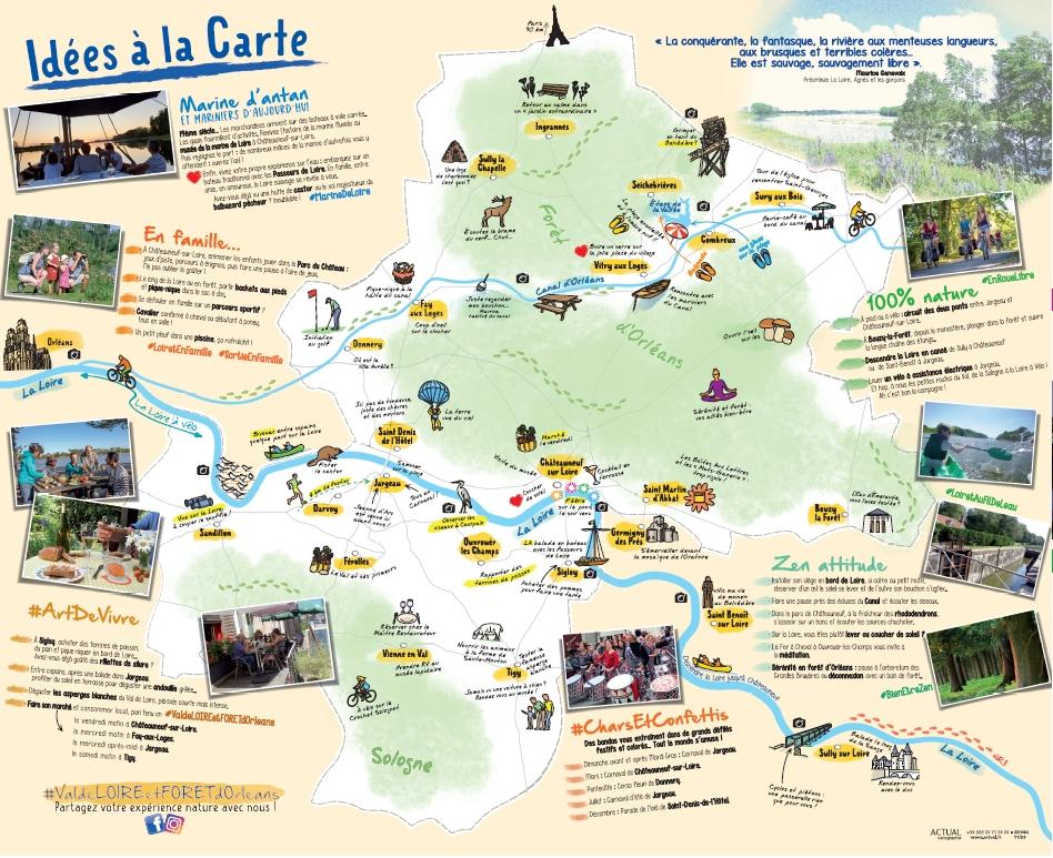 idées à la carte Jargeau et Châteauneuf-sur-Loire
