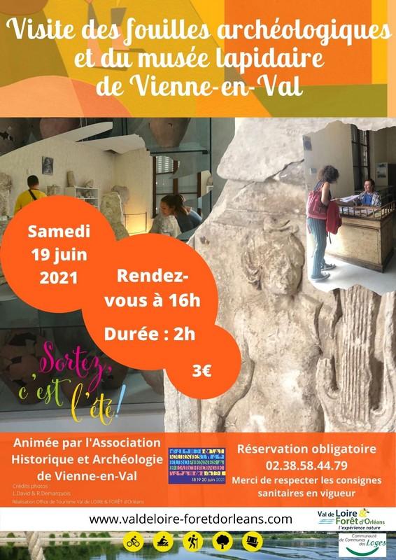 visite des fouilles archéologiques et du musée lapidaire de Vienne-en-Val