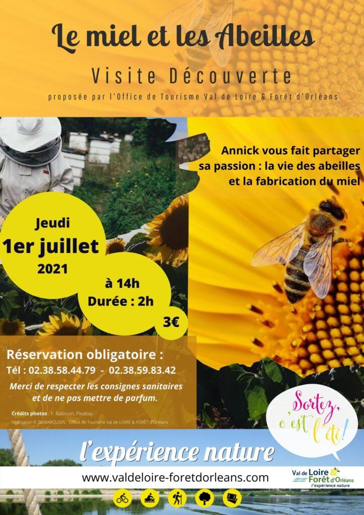 visite découverte chez Annick Thais, apicultrice à Tigy
