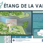 Plan de la baignade surveillée et de la plage à l'étang de la vallée