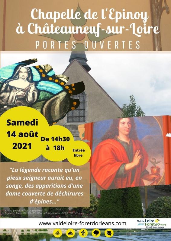visite de la chapelle de l'Epinoy à Châteauneuf-sur-Loire